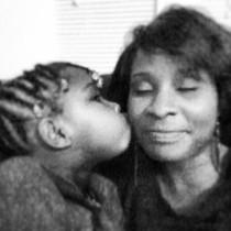 me and Jasmine kissing my cheek