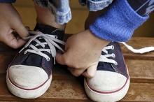 tieing your shoes