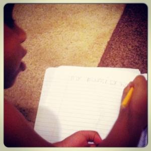 Jasmine writing